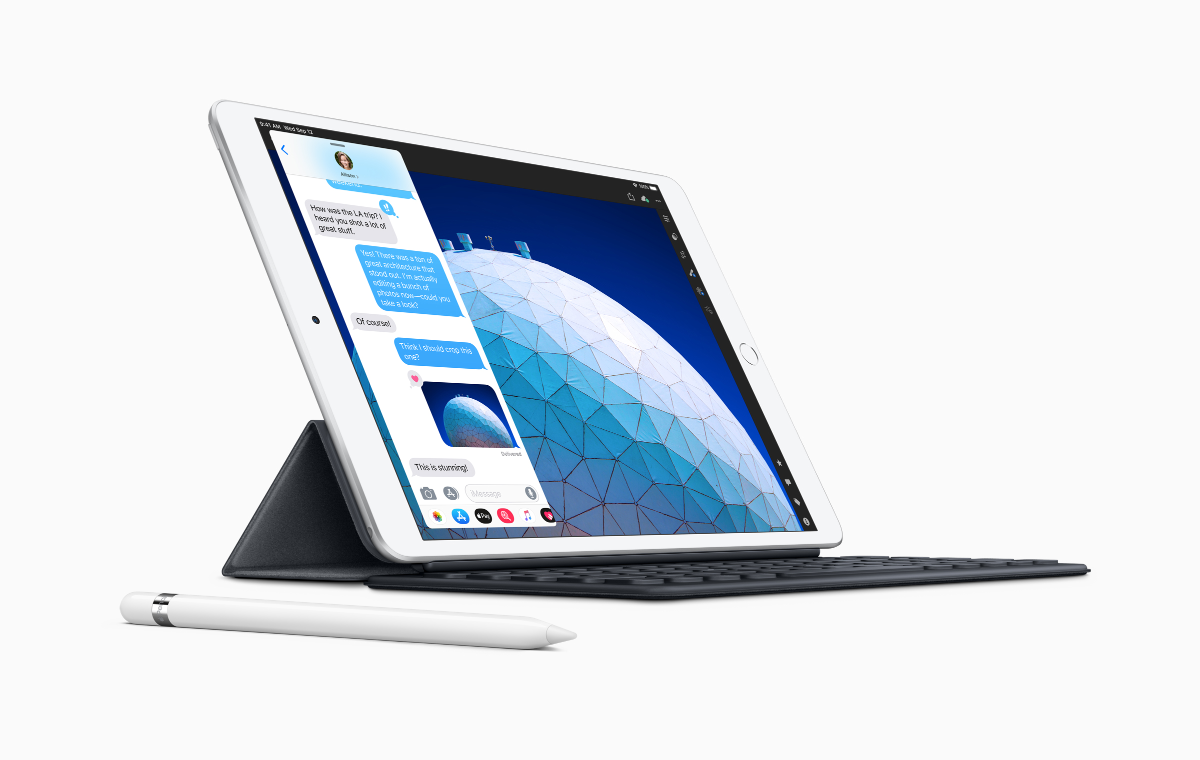 iPad Air with Keyboard and Stylus