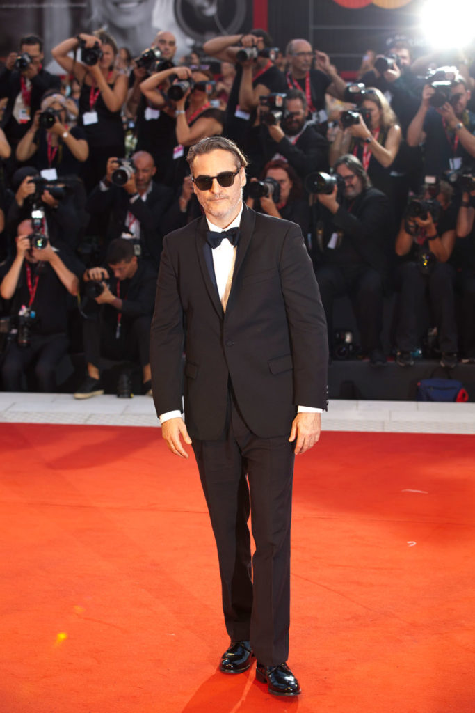 Joaquin Phoenix on Red Carpet at the Venice Film Festival