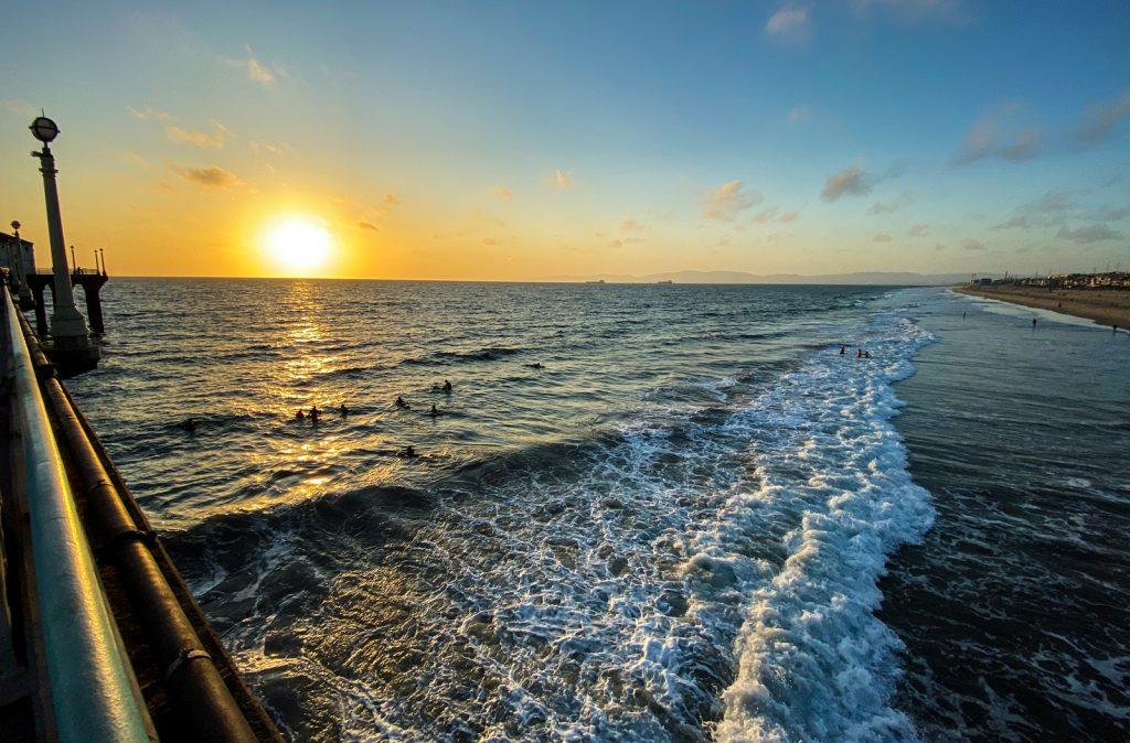Surf and Sunset Manhattan Beach, CA