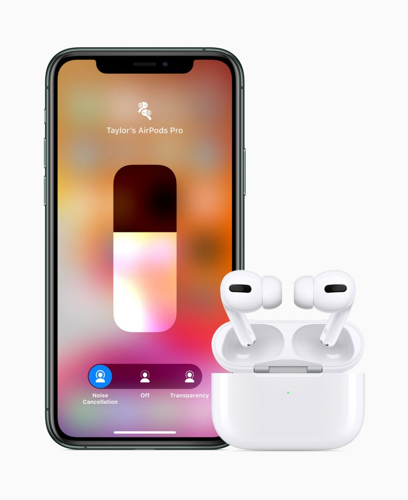 AirPod Pro with iPhone 11