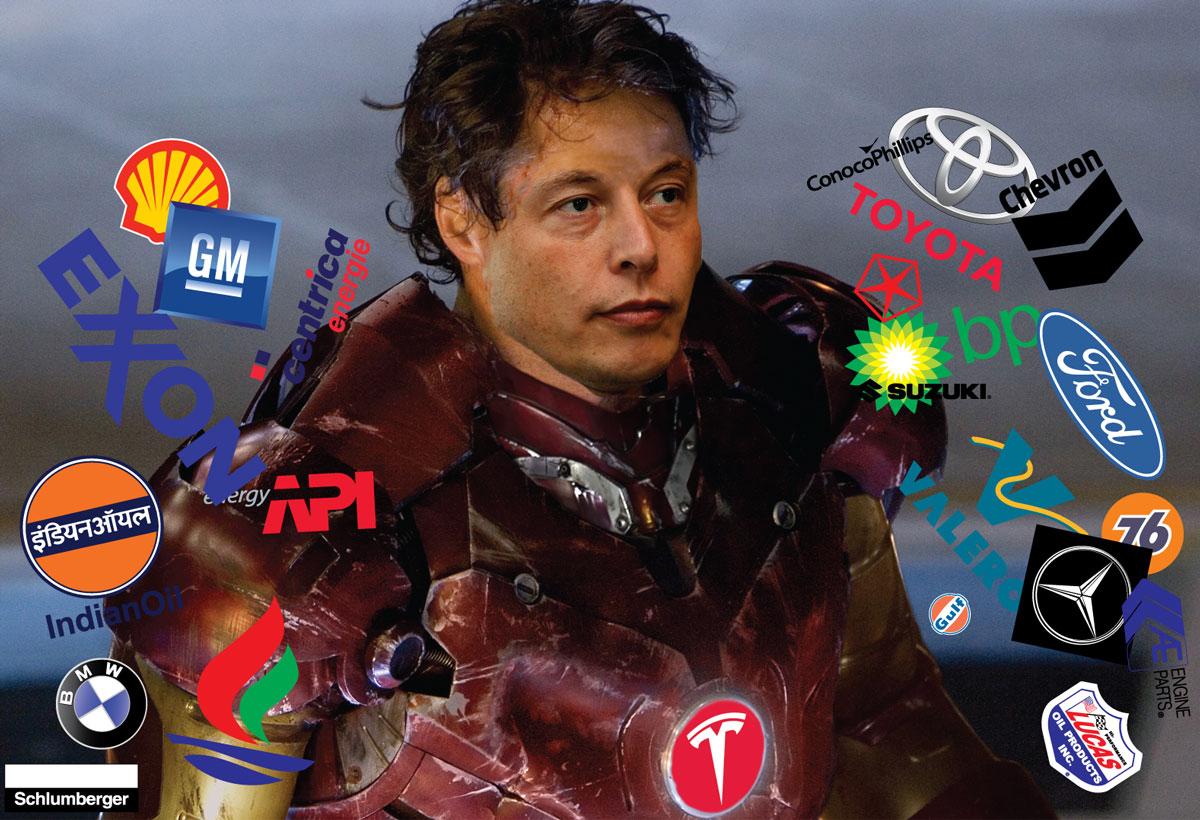 Elon Musk Graphic Collage