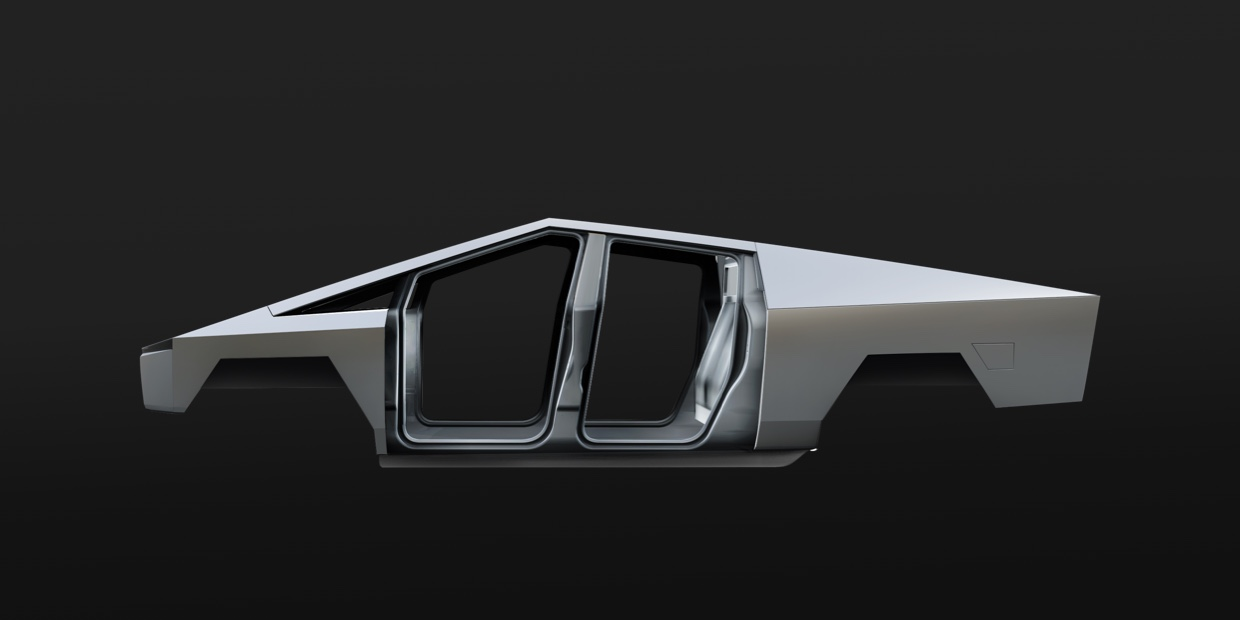 Tesla Cybertruck Body View
