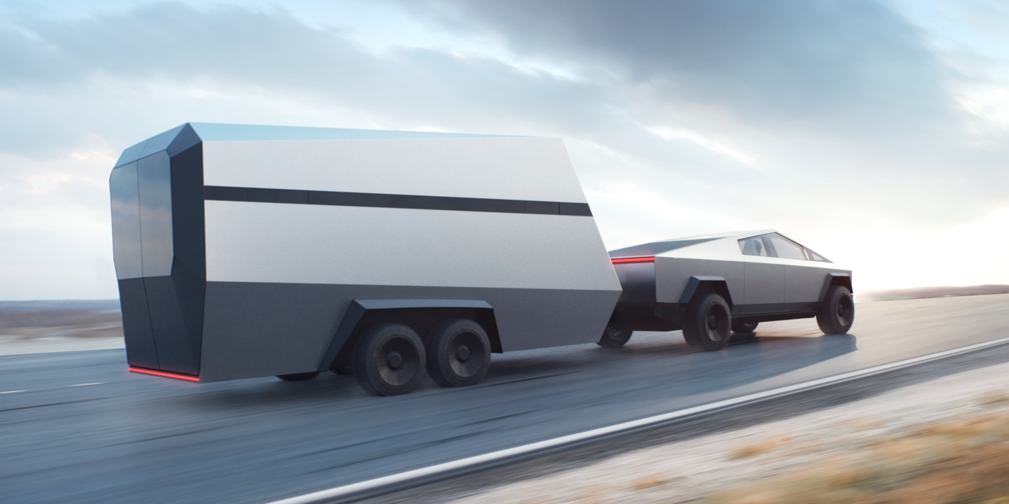 Tesla Cybertruck with Trailer