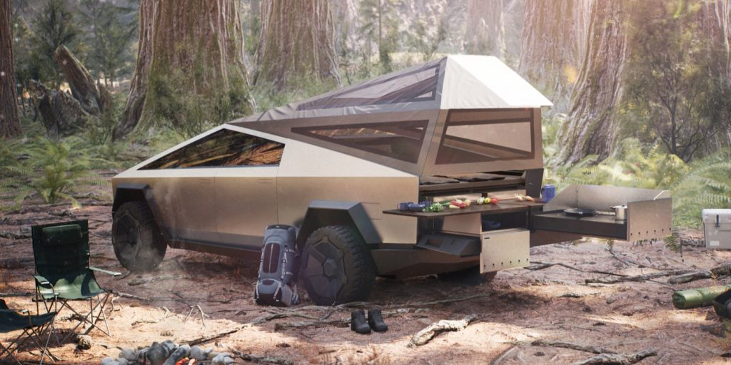 Tesla Cybertruck with Camping Package