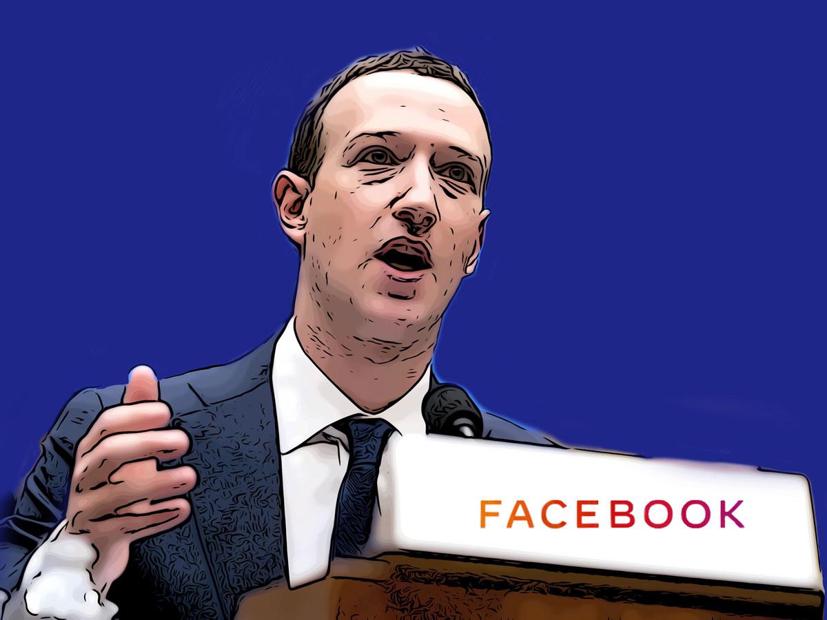 Zuckerberg Facebook Graphic Collage