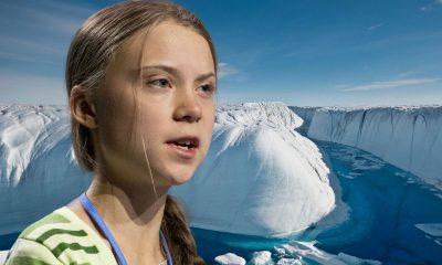 Greta Thunberg in Antarctic collage