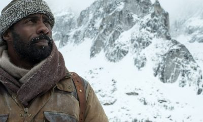Idris Elba in promotional photo from The Mountain Between Us