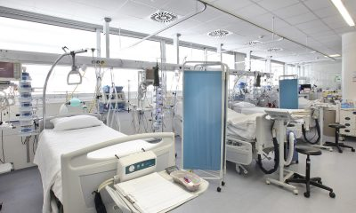 View of ICU Hospital Beds