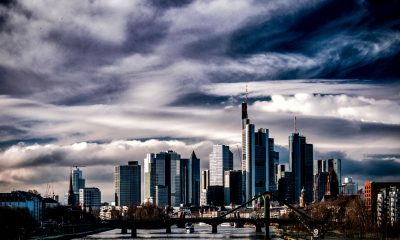 Frankfurt Skyline where Deutsche HQ is located