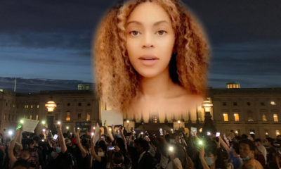 Beyonce superimposed on US Capitol BLM protest
