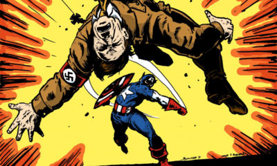 Captain America punches Hitler