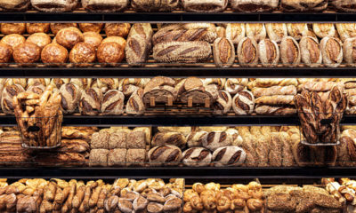 Assortment of Bread at a German Bakery