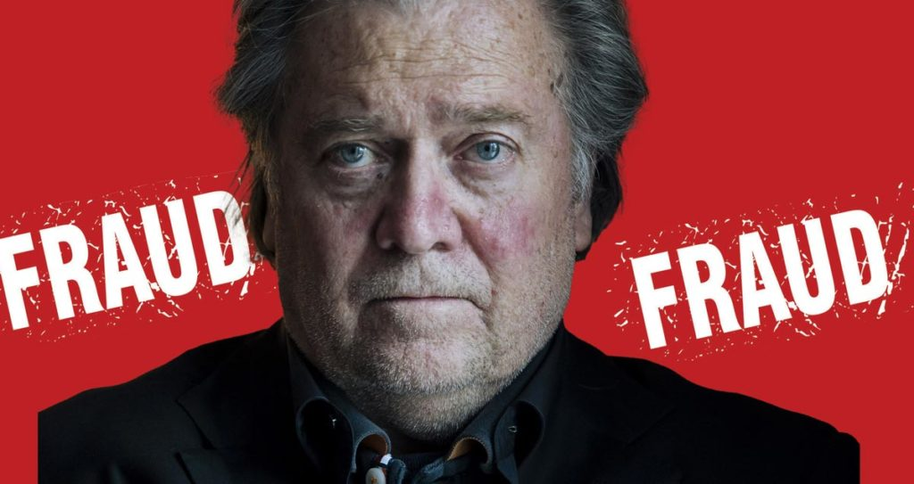 Steve Bannon and three others were charged with Fraud -Arrests made with the help of USPS