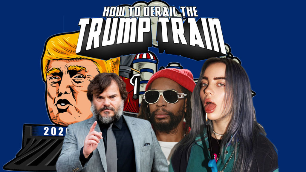 "Billie Eilish, Lil John, Johnny Depp, Jack Black and more Say ""Hell No"" to Trump Train"