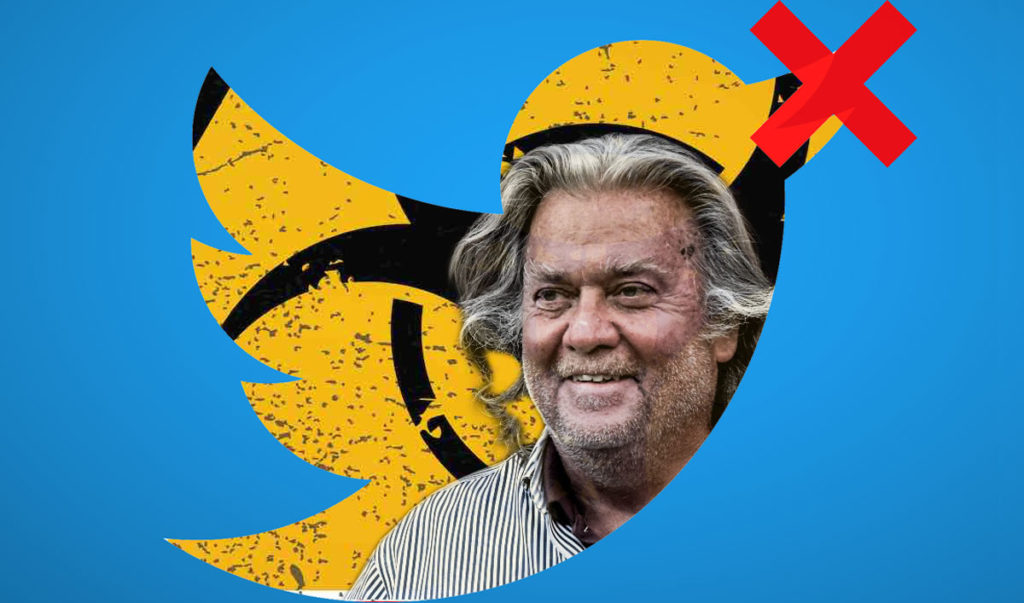 """Steve Bannon banned from Twitter : """"War Room"""" episode removed from YouTube"""
