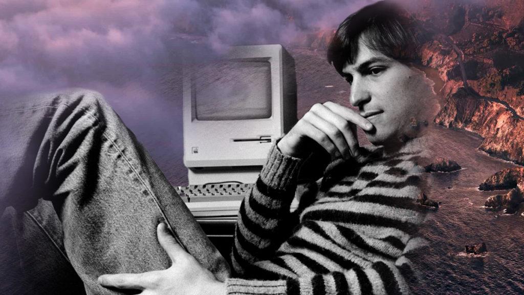Steve Jobs floating over Big Sur
