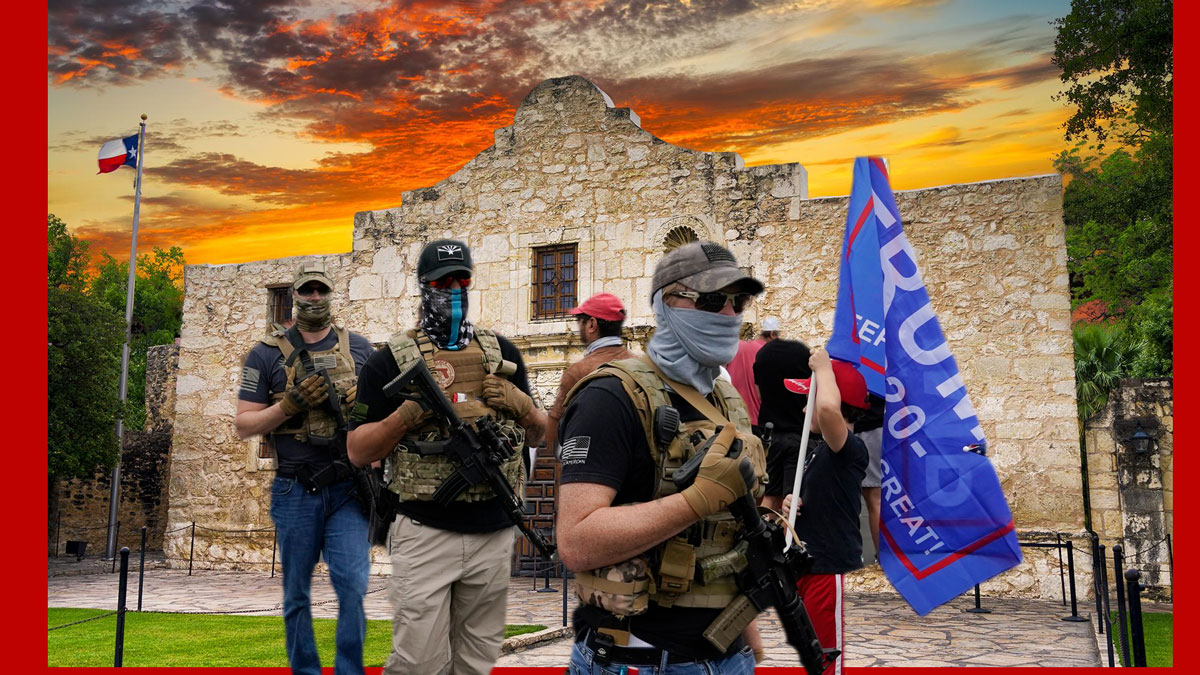 Trump at the Alamo